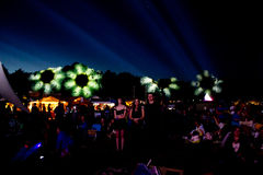 Luces de la flor en el festival de Faerieworlds de la ladera Fotografía de archivo