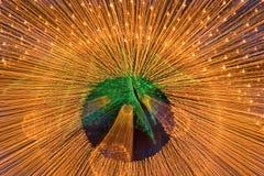 Luces de la guirnalda Fotografía de archivo