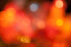 Luces de la guirnalda del Año Nuevo Imagenes de archivo