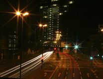Luces de la hora punta Imagen de archivo