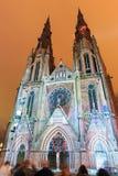Luces de la iglesia del RESPLANDOR Imagenes de archivo