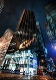 Luces de la iluminación y de la noche de New York City Imagen de archivo