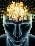 Luces de la mente humana ilustración del vector