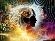 Luces de la mente humana stock de ilustración