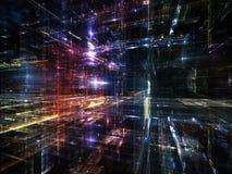 Luces de la metrópoli futura Fotografía de archivo libre de regalías