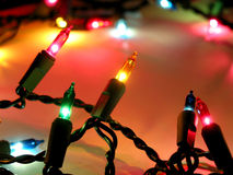 Luces de la Navidad 1 foto de archivo
