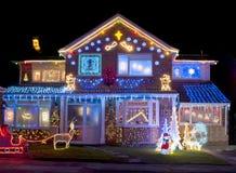 Luces de la Navidad Fotos de archivo