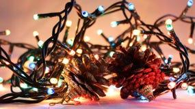 Luces de la Navidad 5 Fotografía de archivo