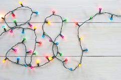 Luces de la Navidad fotos de archivo libres de regalías