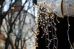 Luces de la Navidad Foto de archivo