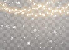 Luces de la Navidad aisladas fotos de archivo libres de regalías