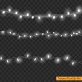Luces de la Navidad aisladas en fondo transparente Fotos de archivo libres de regalías
