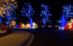 Luces de la Navidad al aire libre Imágenes de archivo libres de regalías