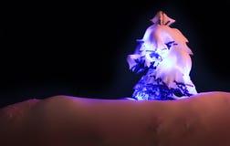 Luces de la Navidad al aire libre Foto de archivo libre de regalías