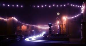 Luces de la Navidad bonitas Fotografía de archivo libre de regalías