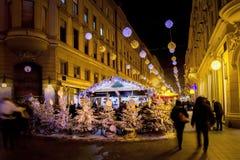 Luces de la Navidad como parte del advenimiento en Zagreb Imágenes de archivo libres de regalías