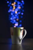 Luces de la Navidad con el bokeh Imagenes de archivo