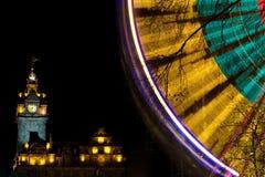 Luces de la Navidad de Edimburgo Foto de archivo
