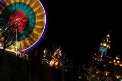 Luces de la Navidad de Edimburgo Fotografía de archivo