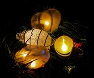 Luces de la Navidad de la abeja Imágenes de archivo libres de regalías