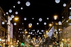 Luces de la Navidad de la calle de Oxford 2013 Imagen de archivo libre de regalías