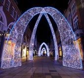 Luces de la Navidad de Londres Fotos de archivo