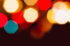 Luces de la Navidad Defocused Imágenes de archivo libres de regalías