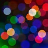 Luces de la Navidad Defocused, fondo de la falta de definición. ilustración del vector