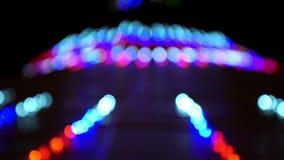 Luces de la Navidad del centelleo Blurred almacen de video