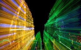 Luces de la Navidad del deslumbramiento Fotografía de archivo