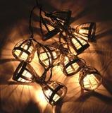 Luces de la Navidad eléctricas Imagenes de archivo