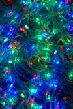 Luces de la Navidad eléctricas fondo, guirnalda Fotografía de archivo libre de regalías
