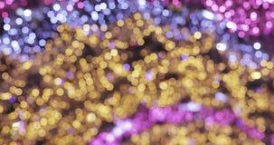 Luces de la Navidad en la calle almacen de video