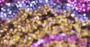 Luces de la Navidad en la calle almacen de metraje de vídeo