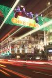 Luces de la Navidad en el circo de Oxford Imagenes de archivo