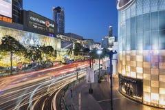 Luces de la Navidad en el mundo central, Bangkok, Tailandia Imágenes de archivo libres de regalías