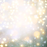 Luces de la Navidad en fondo azul Imágenes de archivo libres de regalías