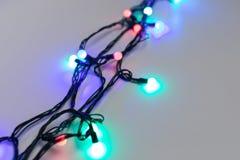 Luces de la Navidad en fondo del carro foto de archivo libre de regalías