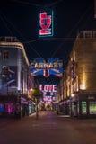 Luces de la Navidad en la calle de Carnaby, Londres Reino Unido Foto de archivo libre de regalías