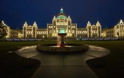 Luces de la Navidad en la capital Fotos de archivo