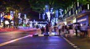 Luces de la Navidad en Singapur Imagen de archivo libre de regalías
