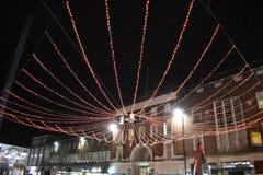 Luces de la Navidad de Exeter Fotografía de archivo libre de regalías