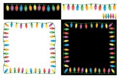 Luces de la Navidad fijadas Imagen de archivo libre de regalías