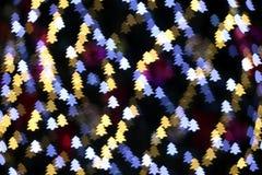Luces de la Navidad formadas árbol Imágenes de archivo libres de regalías