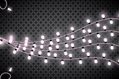 Luces de la Navidad Guirnalda que brilla intensamente en fondo transparente Luces brillantes Imágenes de archivo libres de regalías