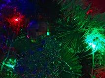 Luces de la Navidad ligeras brillantes Fotografía de archivo libre de regalías