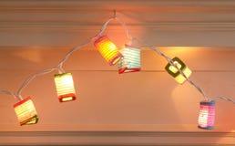 Luces de la Navidad de la linterna Imágenes de archivo libres de regalías