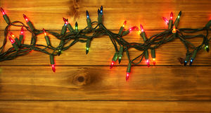 Luces de la Navidad o del Año Nuevo Foto de archivo libre de regalías
