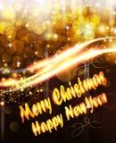 Luces de la Navidad que brillan intensamente Fotografía de archivo libre de regalías