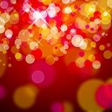 Luces de la Navidad rojas Foto de archivo libre de regalías